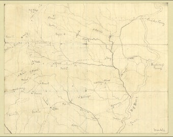 Poster, Many Sizes Available; Map Of The Big Black River, Mississippi 1863