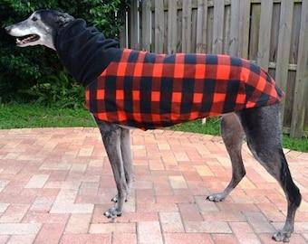 """Greyhound Coat. """"Lumber Jack Plaid Cocoon Coat"""" - Greyhound Sizes"""
