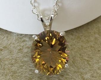 Golden Yellow Quartz Necklace