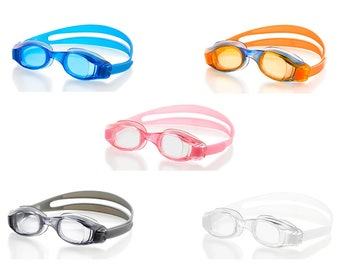 Swimming Goggles for Kids & Early Teens (ages 7-12) - Universal Leak Resistant Eye Fit, Fully Adjustable, Comfortable and Easy to Use
