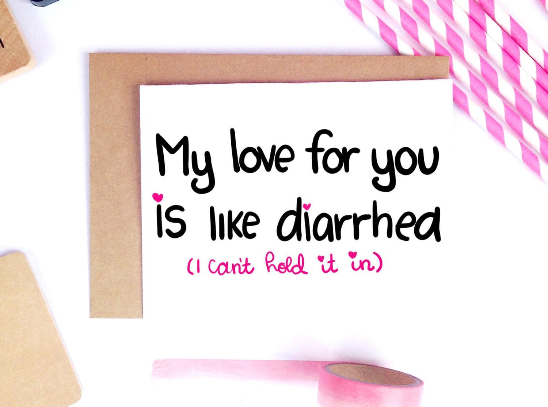 Funny Valentine Card Dirty Valentine Card Adult Valentine