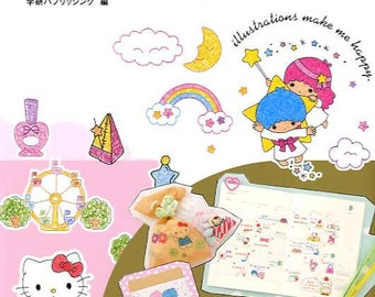 Sanrio Character Illustrations with Ball Point Pens - Japanese Book