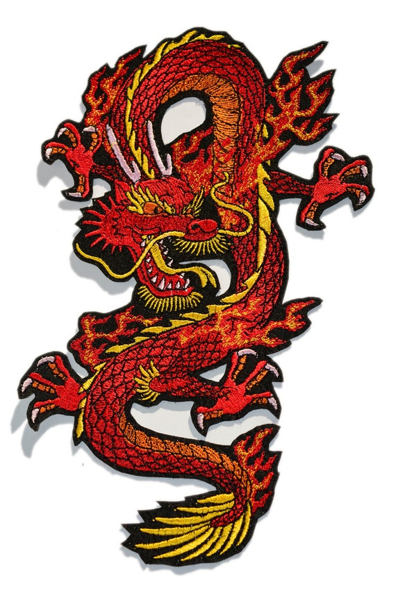 Big Embroidered Dragon Patch Dragon Patches Iron On Patch