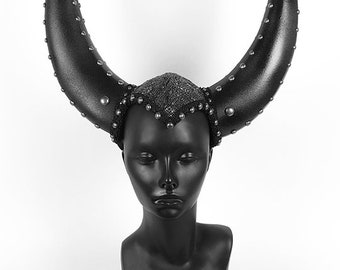 Silver Sequin Horn Headdress