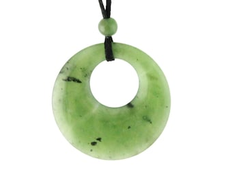 Canadian Nephrite Jade Circle of Life Pendant
