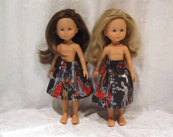 "LES CHERIES Corolle 13"" Dolls Handmade Elastic Waist Skirt #S05 Halloween Elastic Waist SKIRT Frankenstein, Mummy, Dracula, Bats & Werewolf"
