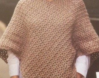 Ladies Crochet Poncho Pattern