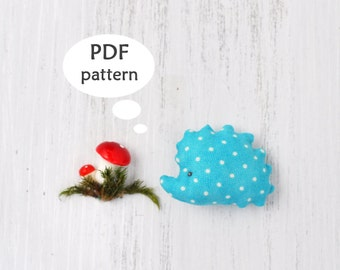 Hedgehog Sewing Pattern. Stuffed Animal Pattern. Hedgehog Christmas Ornament Pattern. Christmas Sewing Project. Sewing Christmas Gifts. Fall