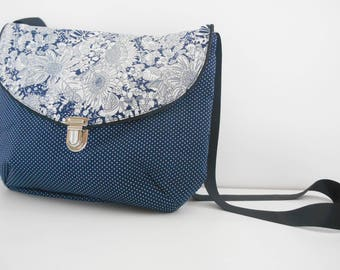 Fabric clutch bag liberty flower Mesketa shoulder Messenger