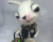 The Easter bunny Original one of a kind art doll