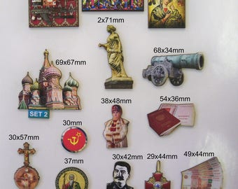 RUSSIA. A Small Sample  9 x Laser wood cutouts)