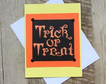Handmade Halloween Card ~ Die-Cut Embellishments