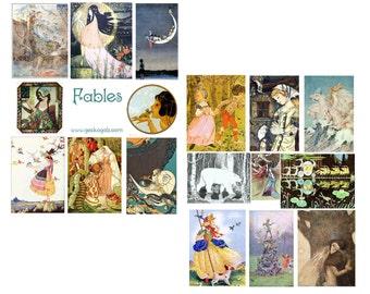 Fables Digital Collage Set