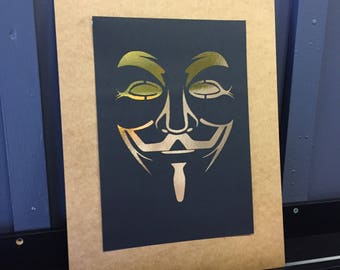 V for Vendetta A4 foil print