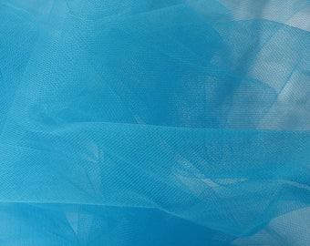Tulle semi-rigid Turquoise Blue 10 cm