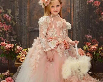 Diana Flower Girl Dress Blush