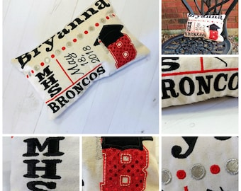 Personalized High school or College Graduation keepsake pillow