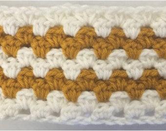 Beginner Golden Granny Stripe Ear Warmer PATTERN