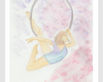 Water color Circus Acrobat - The Circus Collection