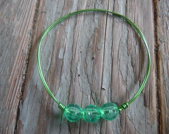 Green Wire Bangle