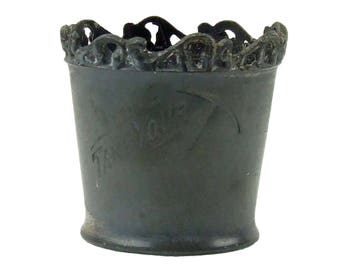 "Antique Victorian Pewter Toothpick Holder Engraved with Ice pick and Saying ""Take Your"""