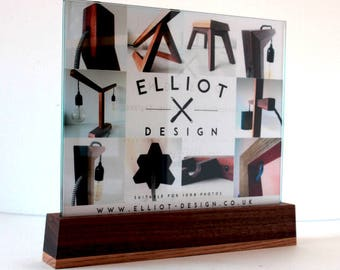 modern picture frame solid wood and glass