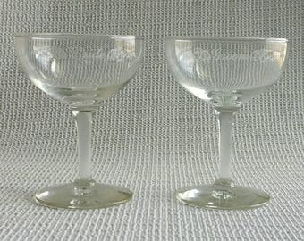 Vintage Wedding Toasting Goblets or Champagne Coupes Bride and Groom Toast Vintage Wedding Accecories