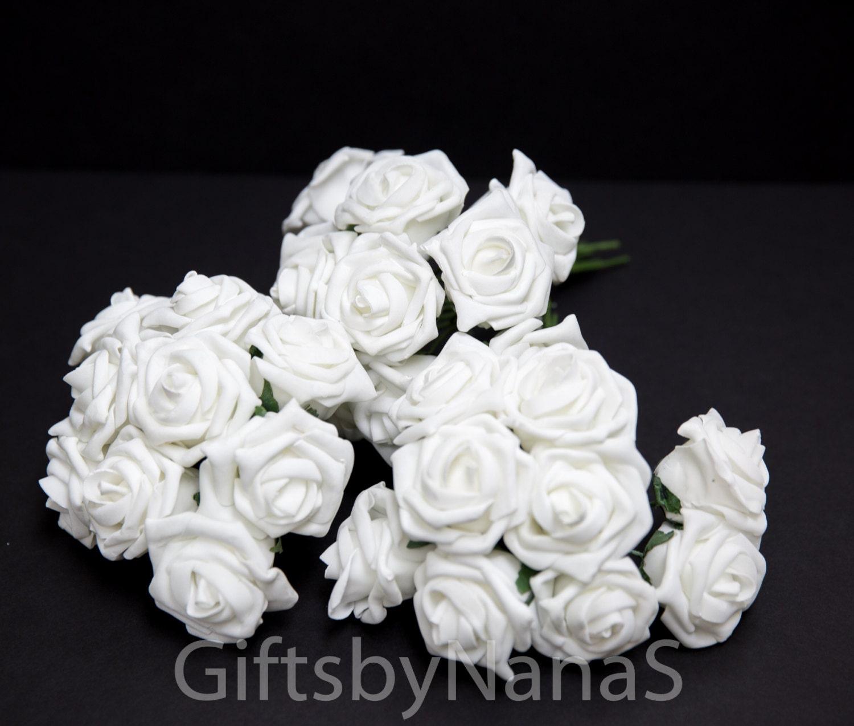 White foam roses large white roses bulk silk flowers cheap silk 2999 izmirmasajfo Images