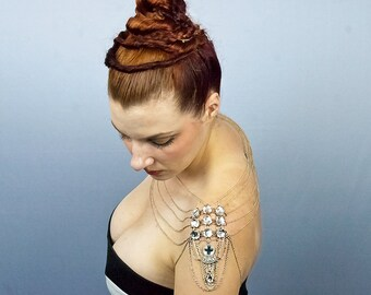 Rhinestone Wedding Jewelry Shoulder Chain Necklace