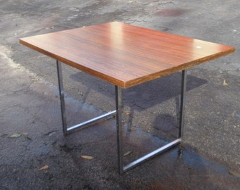 Vintage Mid Century Modern MCM Milo Baughman Style Desk Table w Rosewood Top Local Pickup Only