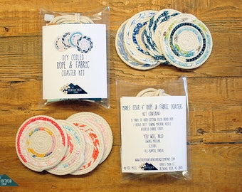 DIY Sewing Craft Kit - Coiled Rope Basket - Rope Coaster Basket Gift for Quilter