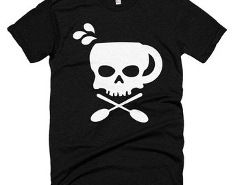 Death Before Decaf Skull Logo Shirt