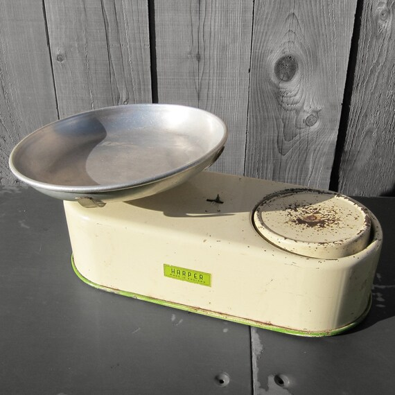 Harper Kitchen Scales Cream Green