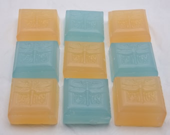 Fae Bella Dragonfly guest soaps.  Three 2 oz.  bars of non-detergent glycerin soap.  Choose your scent.