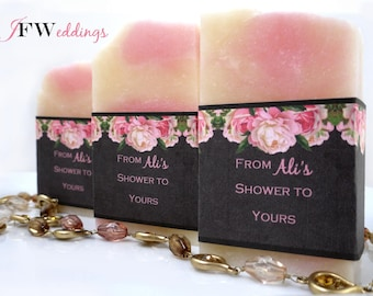 50 Soap Favors, Bridal Shower Favor, Wedding Favors, Baby Shower Favors, Soap Favor, Personalized Favor, Handmade Soap, Bridal Shower