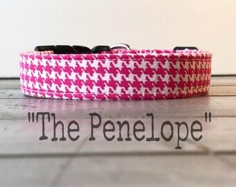 DOG COLLAR, Pretty Dog Collar, Dog Collar for Girls, Pink Dog Collar - The Penelope