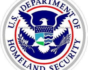 Dept. Of Homeland Security Reflective Decal Sticker   #1543 / #3101