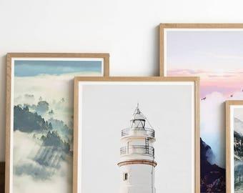 Lighthouse Print - Fine Art Print - Lighthouse Art - Lighthouse Decor - Light House - Nautical Wall Art - Nautical Print - Nautical Decor