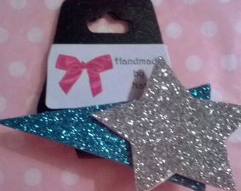 Shooting star glitter hair clip.