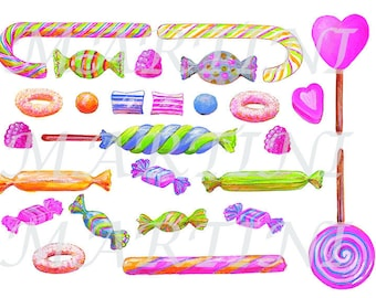 Sticker decal with clipped candy