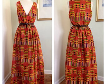 African ankara kente Maxi dress