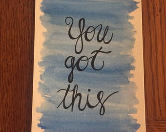 Quote Watercolor Painting