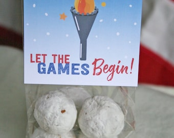 Winter games party favor // Team USA treat favor // Olympics party favor // winter sports party favor // Olympic torch