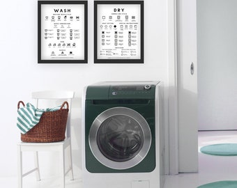 LAUNDRY ROOM reference/guide poster/print  |  WASH