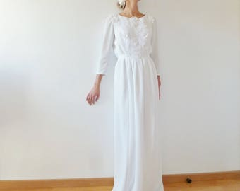 wedding dress embroidered