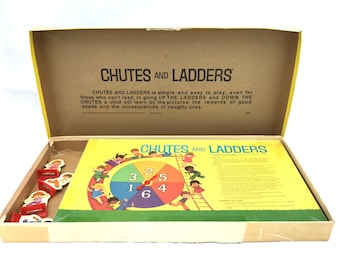 Vintage 1974 CHUTES And LADDERS Board Game / Milton Bradley / Ages 4 To 10