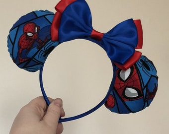 Spider-Man (Marvel) inspired Mickey/Minnie Disney ears