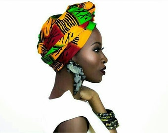 Head wrap, head wraps for women, Rasta, head wrap scarf, Rasta clothing, head wrap women, head wrap African, Rasta head wrap, African Rasta