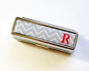 Lipstick case, Chevron, Monogram Lipstick Case, lipstick holder, lipstick case with mirror, Personalized, Custom case, Gift for her (4878)