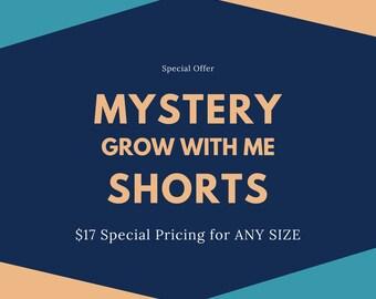 MYSTERY Shorts - Grow With Me Shorts - Baby Shorts - Toddler Shorts - Newborn Shorts - Cloth Diaper Shorts by Note Any Treble